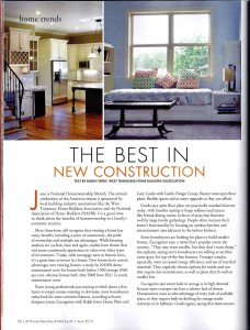The Best in New Construction, by Robin Terry of the West TN Area Home Builders Assoc.